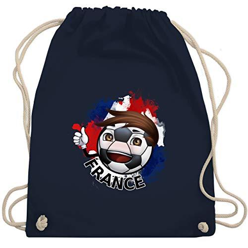 Navy Fußball-maskottchen (Fußball-Europameisterschaft 2020 - France Fußballjunge - Unisize - Navy Blau - WM110 - Turnbeutel & Gym Bag)