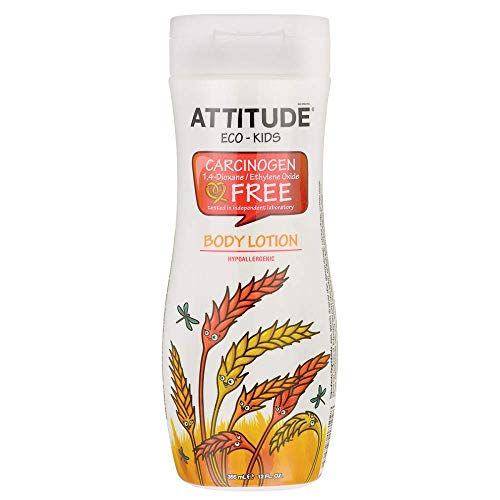 ATTITUDE Little Ones 12 Oz. Body Lotion - Natural, Efficient, Hypoallergenic, and 100% Free of Chemicals - For Delicate Baby Skin