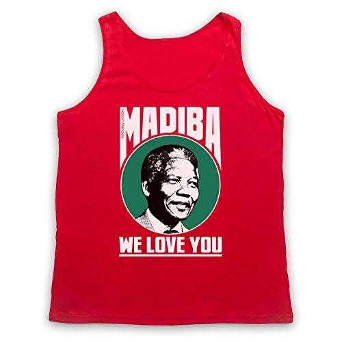 Nelson Mandela Madiba We Love You Tank-Top Weste Rot