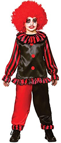 Boys Freaky Evil Clown Halloween Fancy Dress Circus Costume. Size L (8-10 - Freaky Kostüm Kinder