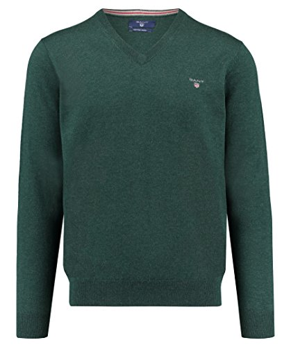 Gant Herren Pullover khaki (44) M (Prestige V-ausschnitt)