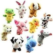 Lumanuby Marionetas de dedo de Animales de Terciopelo Juego de 10 Unidades