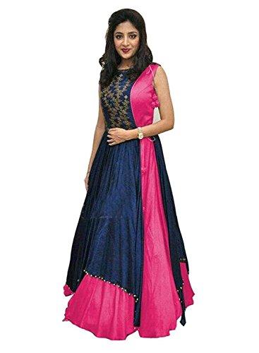 ethnic vila Women\'s Free Size Indo Western Dress ( Indo Westerns_pink_Free Size )