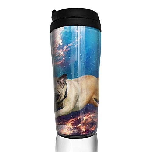 Reise-Kaffeetasse-Raum-Mops-Wasser-Flasche Umweltschutz-Material ABS 12 Unze (Unzen Wasser-flaschen 12)