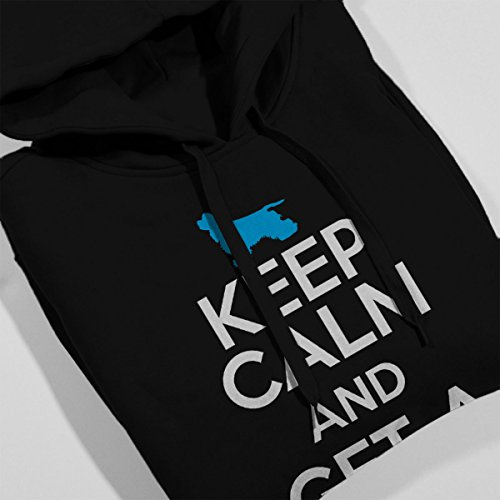 Keep Calm And Get A Spaniel Men's Hooded Sweatshirt Black