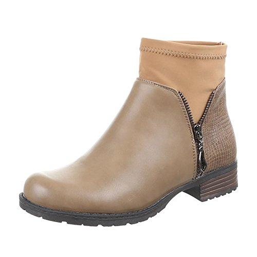 Chaussures, bottines 55003–pa Marron - Kaki
