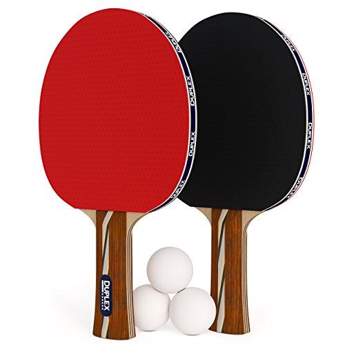 Duplex 6Star Ping Pong Paddel-Set von 2Tisch Tennis Schläger mit 3Bällen