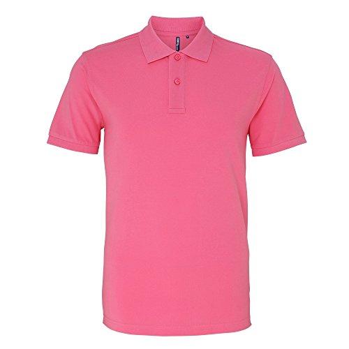 Asquith & Fox Herren Polo-Shirt, Kurzarm Pink