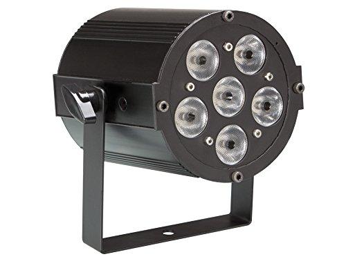 Proiettore LED RGBW 6x8 watt -Proiettore MINIPAR con corpo in metallo, dotato di 6 LED RGBW da 8 watt e microfono integrato