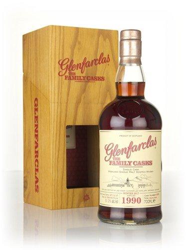 Glenfarclas 1990 27 Years The Family Casks Sherry Butt Cask 9255 Highland Single Malt Scotch Whisky Cask Strength 51,2{b1c35d9cd799311046c053ef031ef2ca77f146562309c03e549f2511ac537734} Vol. - eine von 596 Flaschen!