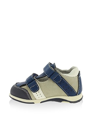 Sandale en cuir avec velcro - Marino