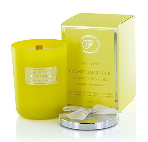 Fine Scent Melbourne Scented Candle 250g (Crème Anglaise: Buttermilk & Vanilla) by The International Fine Fragrance Company