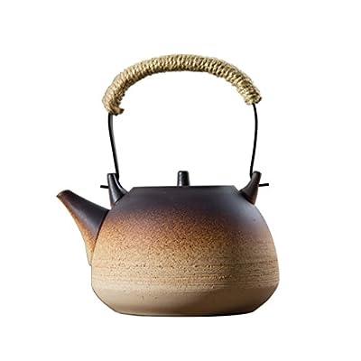 YONGJUN Théière En Céramique - 1.1L - Bouilloire, Bouillir La Théière, Style Oriental, Pot De Santé Résistant À La Chaleur