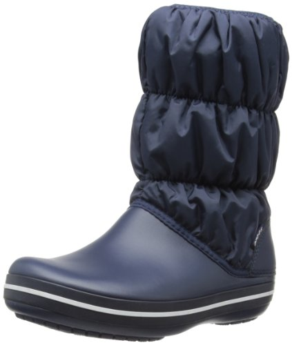 Crocs Winter Puff Boot Women, Boots femme Bleu (Navy/Navy)