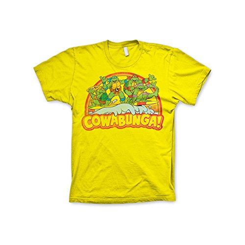 Offizielles Lizenzprodukt TMNT - Cowabunga T-Shirt (Gelb), XX-Large