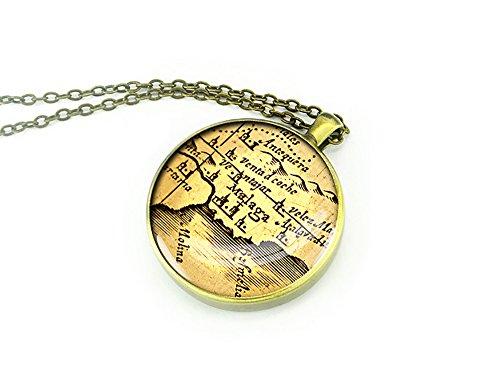 Karte juwelen 1613 Malaga geburtstagshalskette karte halskette geburtstagsgeschenk für oma aussagekräftiges geschenk