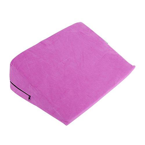 Paar-erotisches Keil-Kissen, weiches bewegliches Positionierungs-Dreieck-Sex-Kissen spielt Bett-Sofa-Schwamm-Bein-Aufzugs-Kissen (Rosa) (Keil Aufzug)