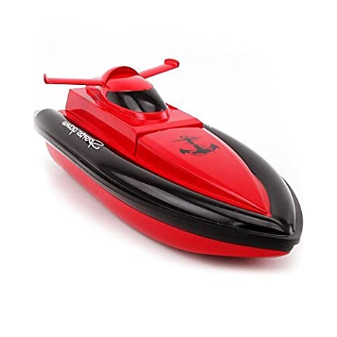 DeeXop F1 Works In Water RC Boat Remote Control Boat-Red