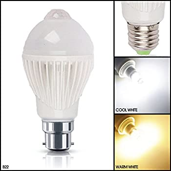Pir motion sensor light bulb b22 bayonet automatic motion msc 5 watt 450 lumen b22 e27 available motion and dusk dawn pir sensitive pir led light bulb automatic motion sensor activated warm white light bulb mozeypictures Gallery