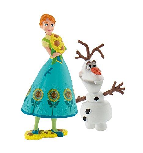 Bullyland 12088 - Walt Disney Frozen Fever, Spielfigurenset, Anna und Olaf, bunt -