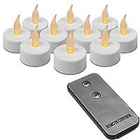 10 lumini a LED con telecomando. Questo set di lumini è composto da 10 lumini a LED e un telecomando. I LED creano una luce calda e leggermente tremolante per un'atmosfera suggestiva e accogliente nella vostra casa. Ogni lumino può essere con...