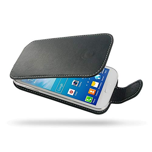 PDair Handarbeit Leder Hülle - Deluxe Leather Flip Case for Samsung Galaxy Grand Neo GT-i9060