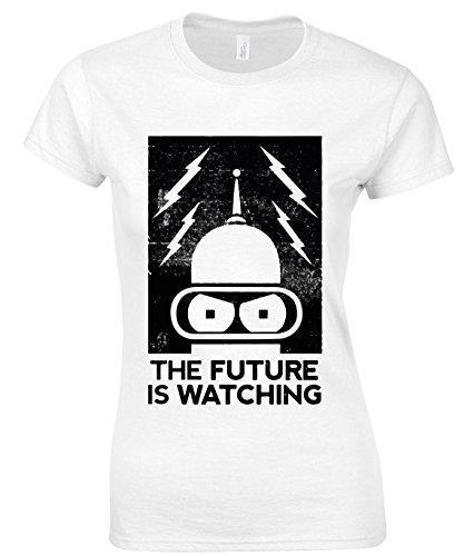 The Future Is Watching Bender Futurama Women's T-Shirt, Vêtements