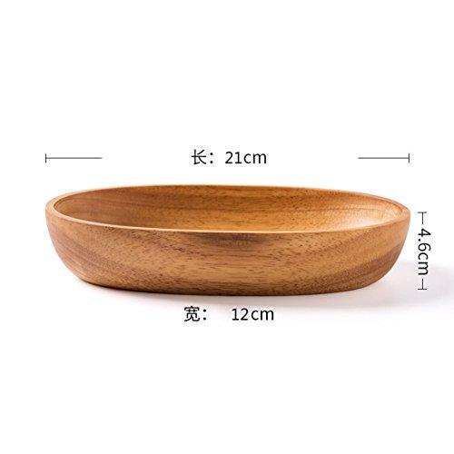 Creative,cucina in legno/piatto da dessert a forma di barca/frutto/insalatiera/ciotola di sushi/dim sum-b
