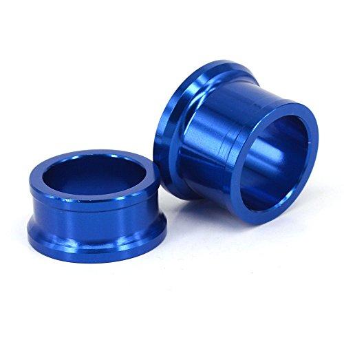 Entretoise de moyeu de Roue Avant de Commande numérique par Ordinateur de Moto pour Yamaha YZ125 YZ250 08-16 YZ250F 07-13 YZ250X 16 YZ450F 08-13 (Bleu)