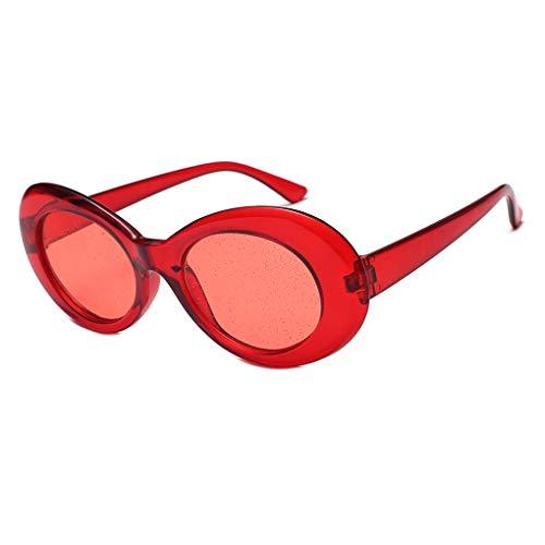 Junecat Frauen Glitzer-Objektive Oval Sonnenbrillen Süßigkeit-Farben-transparente Rahmen UV400 Shades Brillen Sequin Sonnenbrillen