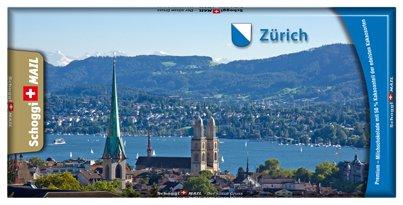 Preisvergleich Produktbild Grusskarte & Schweizer Premium Schokolade, Postkarte - Zürich