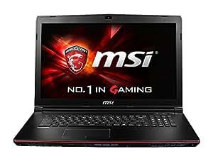 MSI GP72-2QEi581 001793-SKU1010 43,9 cm (17,3 Zoll) Laptop (Intel Core i5 4210H, 8GB RAM, 1TB HDD, NVIDIA GeForce GTX 950M, Win 10 Home) schwarz