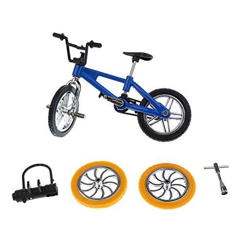 Puppenhaus Mini Mountainbike Fahrrad Bike Puppenstube Zubehör Blauk- Blau