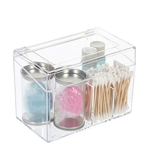 Wattepads Aufbewahrungsbox Make-up Aufbewahrungstasche Facial Puff Facial Organizers Make-up-Organizer-Tasche Cosmetic Display (Color : Clear) -