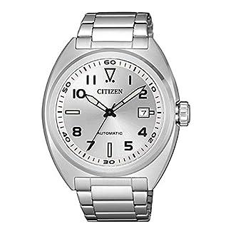 CITIZEN Reloj Analógico para Hombre de con Correa en Acero Inoxidable NJ0100-89A