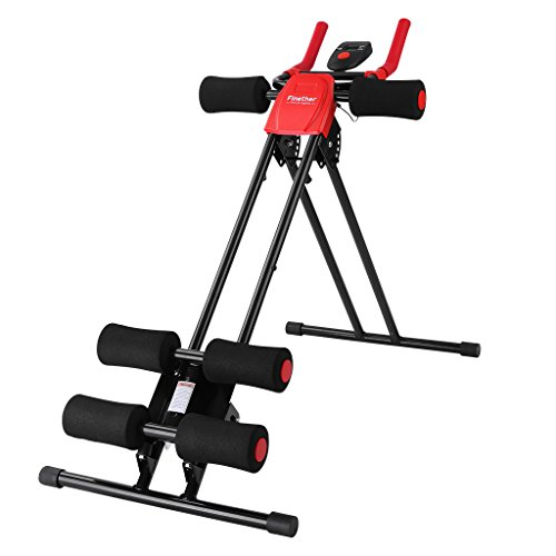 Finether Attrezzo per Addominale, Panca Addominali,150 Fitness Power AB Trainer, Pieghevole