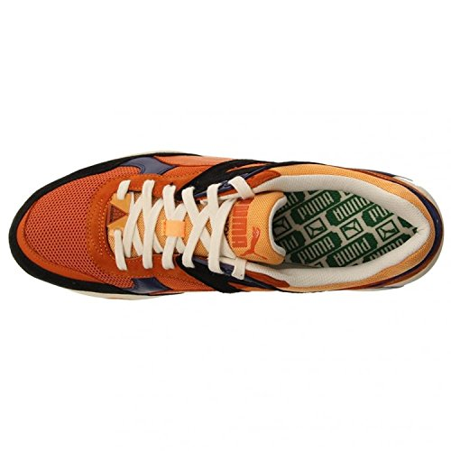 Puma R698 Homme Baskets / Sneakers orange noir Retro