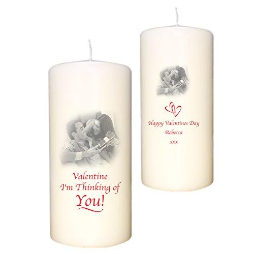 Foto personalizada con tu marfil vela especial amor romántico regalo para ella él hombres mujeres regalos para mi tu novia esposa novio marido madre padres día de San Valentín boda Navidad Novedad de cumpleaños idea en Loving Memory