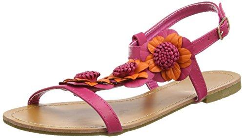 Joe Browns Paradise Island Sandals, Sandali Punta Chiusa Donna Multicolour (a-orange/pink)