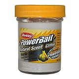 BerkleyPowerbait Natural Scent Trout Bait Glitter Garlic White
