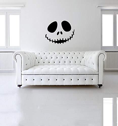 Yaju Wandaufkleber Halloween-Persönlichkeit Creative Schädel Living, Wandtattoo Schlafzimmer Hintergrund 45 * 35cm