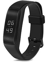 Tracker d'activité - Bracelet connécté - LENOVO - Smart Écran Tactile OLED - Sport Fitness Tracker - podomètre, calories, sommeil, santé, fréquence cardiaque... - Bluetooth V4.0 - Compatible avec Smartphone iPhone et Android - Noir