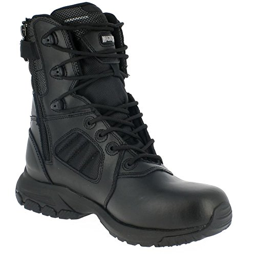 HI-TEC - Magnum Lynx 8.0 Black Side Zip Schuhe Herren Boots Ranger Security Polizei Paintball Neu (Stiefel Side Black Zip)