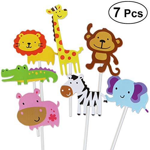 Zoo Theme Kuchen Cupcake Toppers Cute Kuchen Dekorieren Zubehör für Party Geburtstag ()