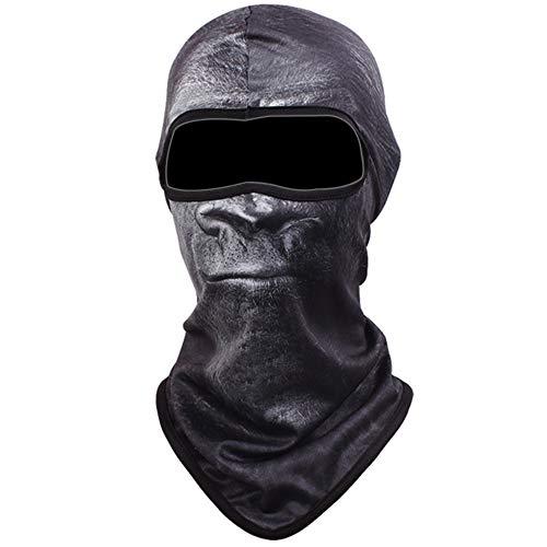 Vertvie Unisex Maske Atmungsaktiv Gesichtsmaske Halloween Motorrad Ski Snowboard Fahrrad Maske Outdoor Sport Schlauchtuch 3D Druck Sturmhaube(One Size, Motiv 2)