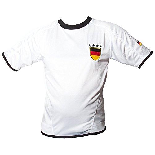 Fußball EM 2016 – Deutschland Trikot mit 4 Weltmeister Sternen! (XL)