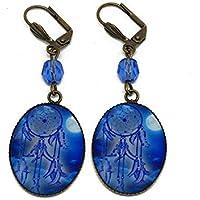 Orecchini Catch sogno luna blu ottone perla resina regali personalizzati regalo di Natale compleanno cerimonia di nozze ospiti festa della mamma coppie