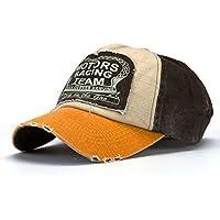 Malloom® Nueva unisex gorra de béisbol algodón mezclado motocicleta Gorra  molienda borde haga viejo Sombrero af25671dc0e
