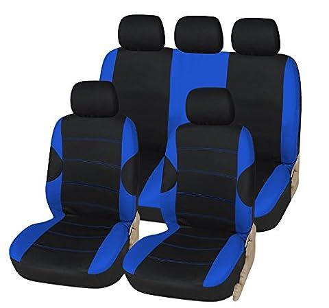 VW Volkswagen Golf Plus 05–08de luxe Housse de siège noir et bleu Sport