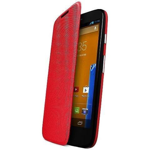 Motorola Flip Shell Case Cover - Funda para móvil Motorola Moto G, rojo
